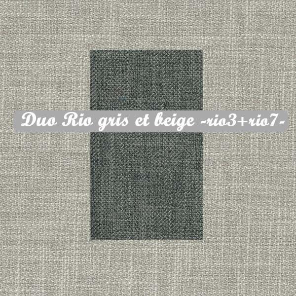Duo Gris+Beige : Rio3+Rio7