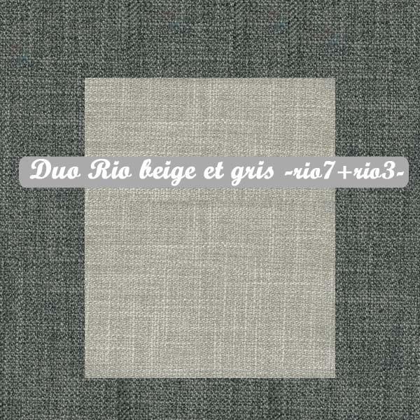 Duo Beige+Gris : Rio7+Rio3