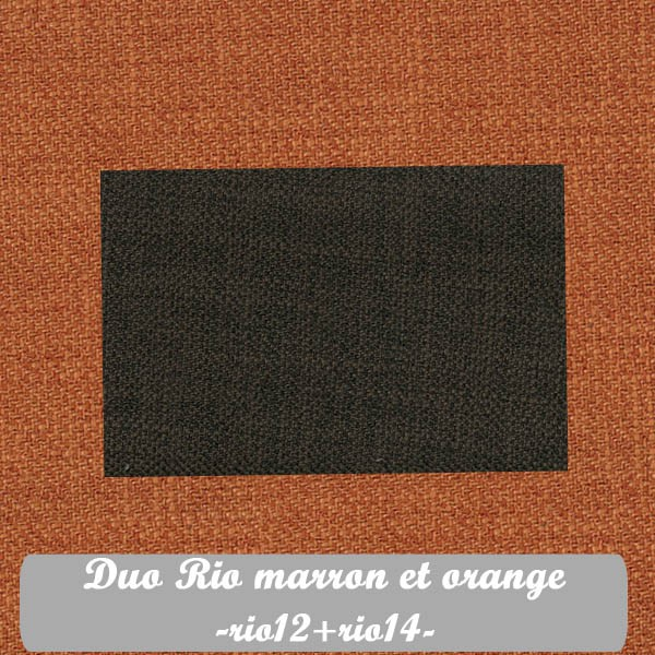 Duo Marron+Orange : Rio12+Rio14