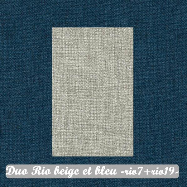 Duo Beige+Bleu : Rio7+Rio19