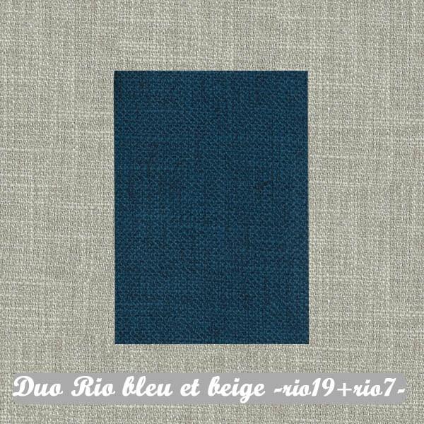 Duo Rio Bleu+Beige : Rio19+Rio7