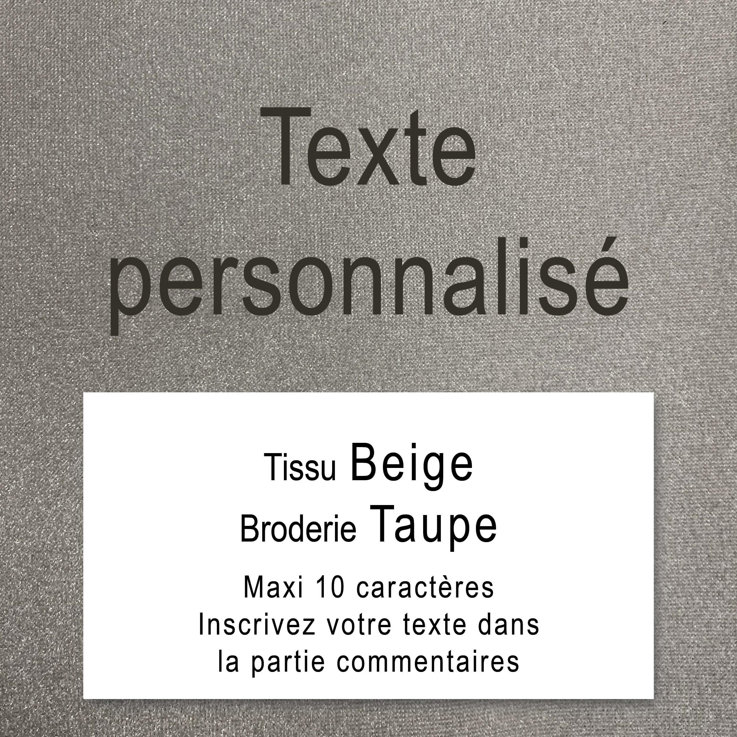 Texte personnalisé - Tissu Noir